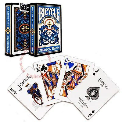 Bicycle Dragon Back Deck - Blue