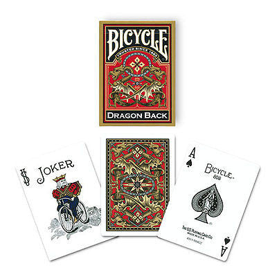 Bicycle Dragon Back Deck - Gold