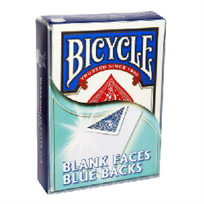 Bicycle Blank Faces Blue Backs Deck