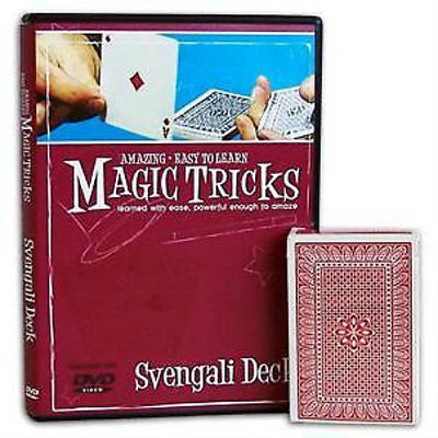 Amazing Easy to Learn Svengali Magic Tricks - Instructional DVD with Deck