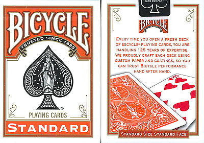 Bicycle Orange Deck - Standard Back