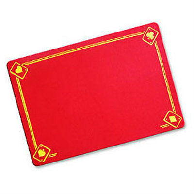 Red Magicians Mat - Printed with Aces - Standard Size