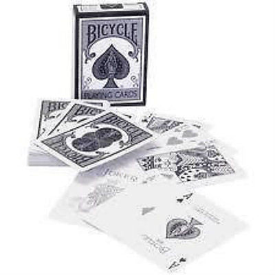 Bicycle New Fashion Deck - Silver and White