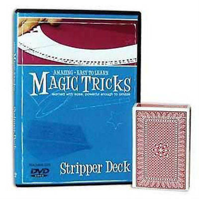 Amazing Easy to Learn Stripper Magic Tricks - Instructional DVD with Deck