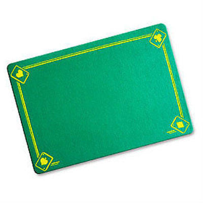 Green Magicians Mat - Printed with Aces - Standard Size