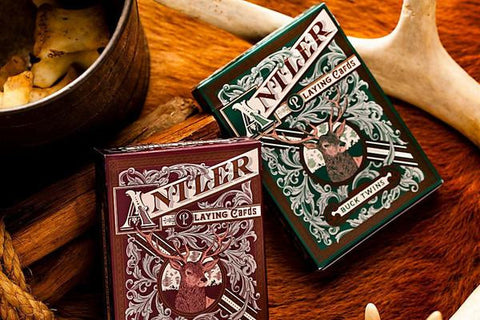 Antler Playing Cards - Maroon