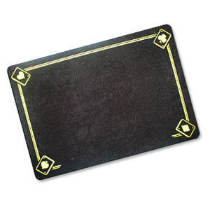 Black Magicians Mat - Printed with Aces - Standard Size