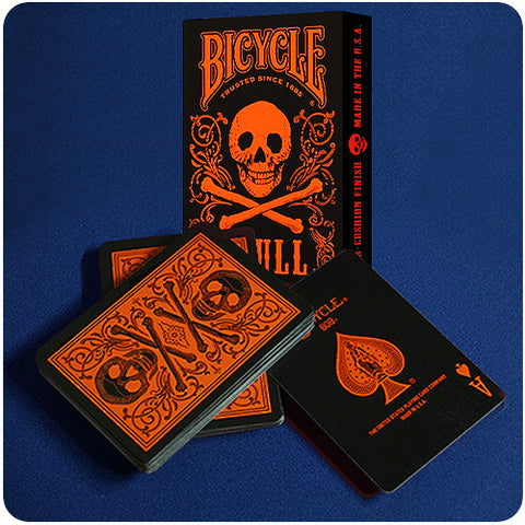 Bicycle Skull Deck - Orange
