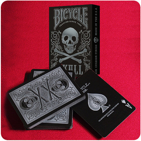 Bicycle Skull Deck - Silver
