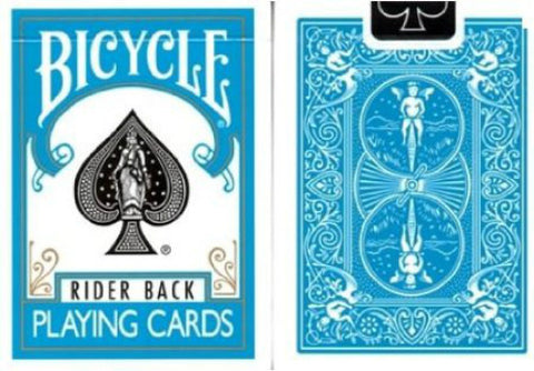 Bicycle Turquoise Deck - Rider Back