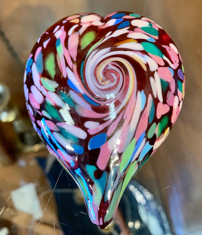 Glass Heart Paperweights- ASSORTED