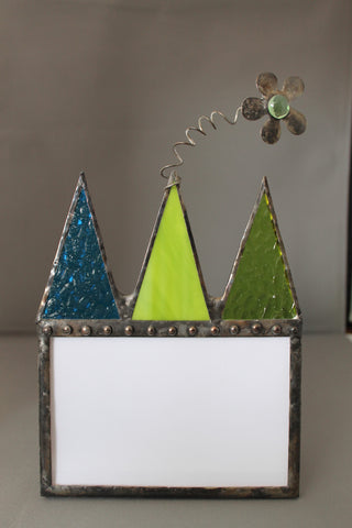 Stained Glass Castle Frame