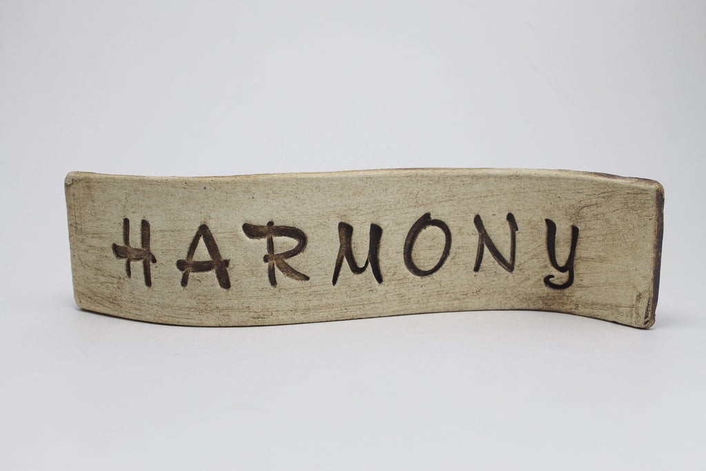 """Harmony"" Standing Desk Sign"