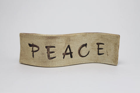 """Peace"" Standing Desk Sign"