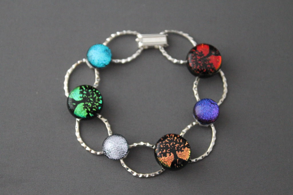 Dichroic Glass Tree Bracelet