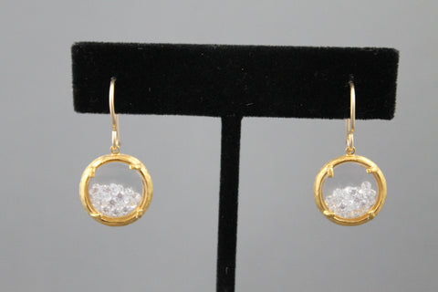 Crystal Branch Mini Earrings