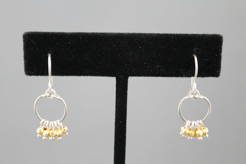 Hoop Earring Silver and Gold