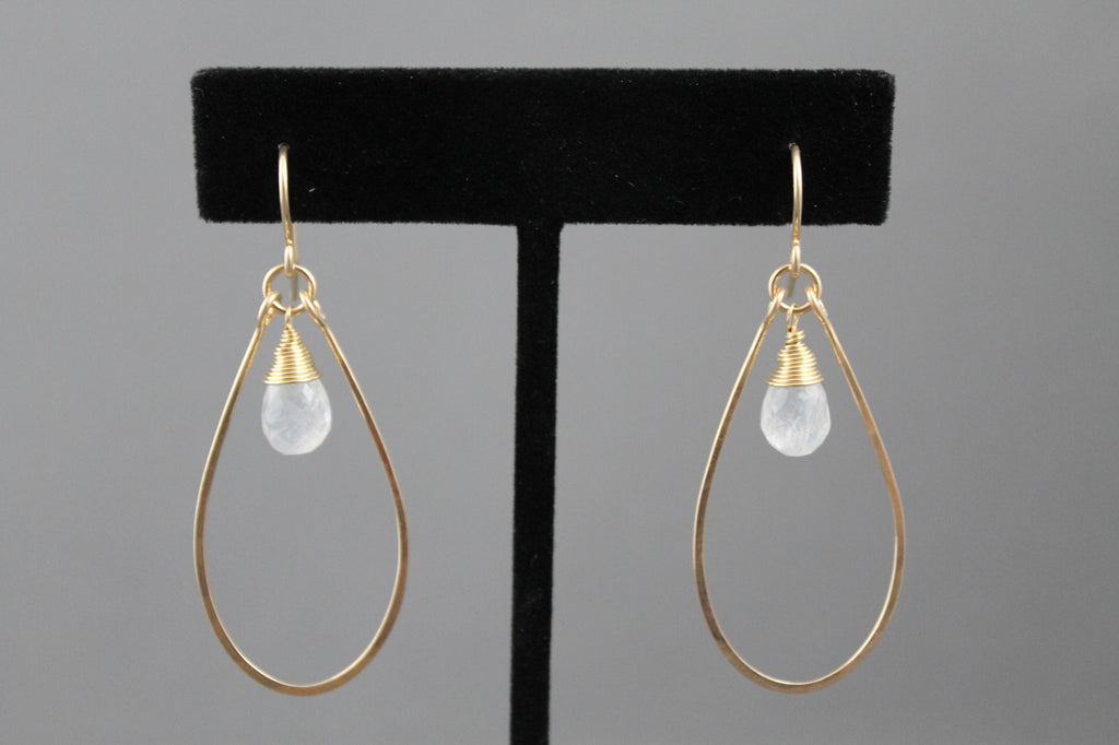 Moonstone Tear Drop Earrings