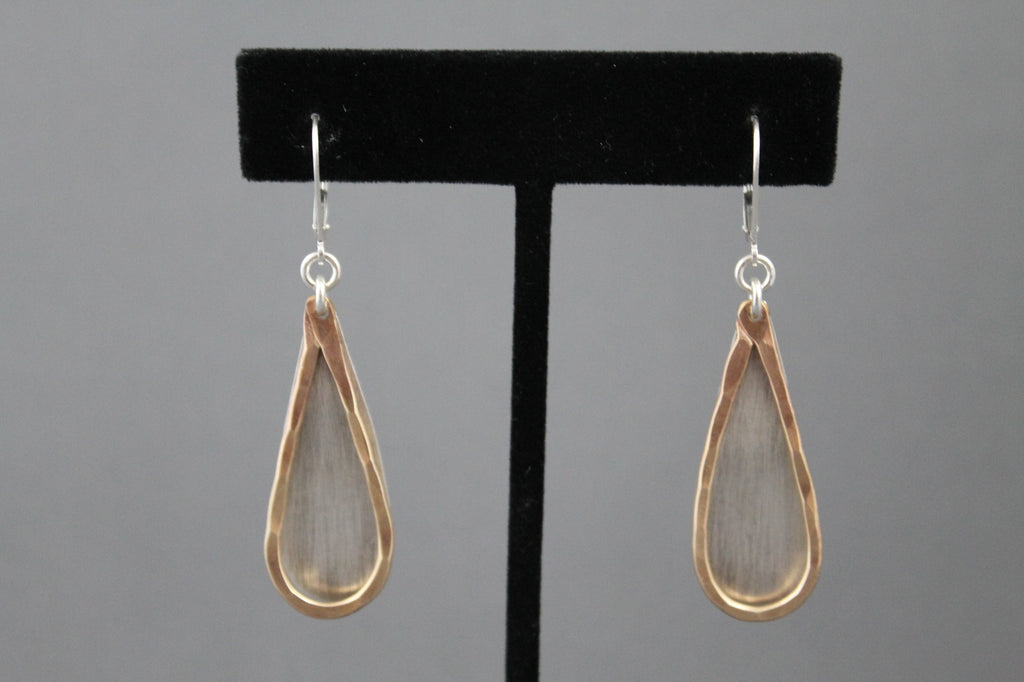 Hammered Tear Drop Earrings