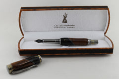 Hawaiian Black Marble Fountain Pen