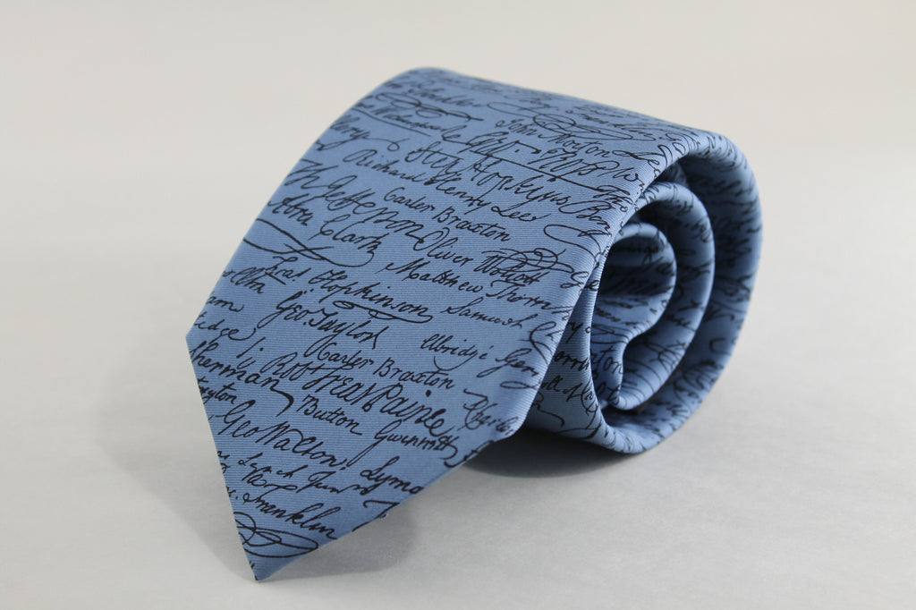 Tie Constitution Signatures