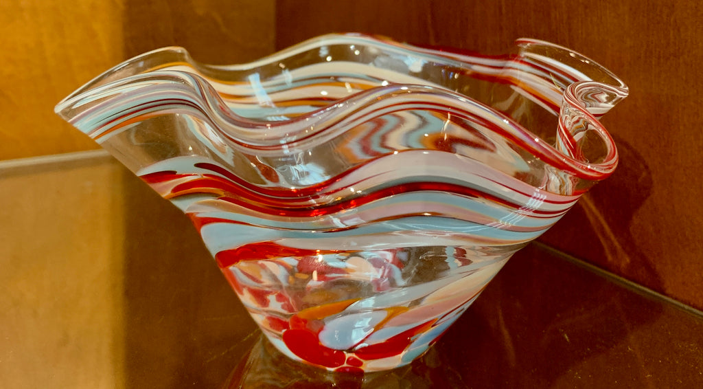 Wavy Glass Bowl