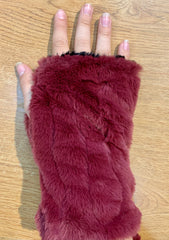 Faux Fur Fingerless Gloves- ASSORTED