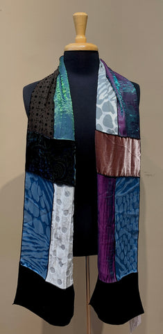 Velvet Patch Scarf- ASSORTED