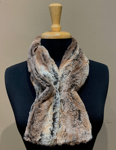 Faux Fur Collar Scarf- ASSORTED