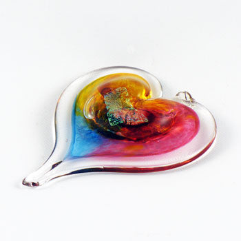 Glass Heart Suncatcher Small