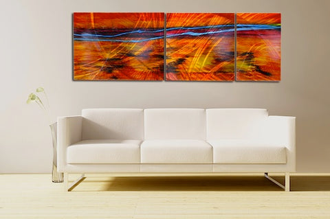 Large Metal Wall Art Also Extra Large Contemporary Herbst Metal Wall Art