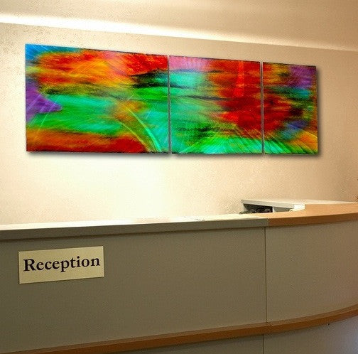 Abstract Large Wall Art  A Garden View - Triptych  & Abstract Large Wall Art | Modern Contemporary Paintings Sale ...
