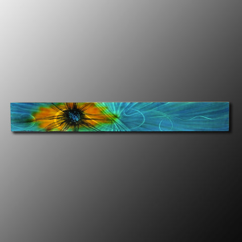 Aqua - Teal Abstract Metal Wall Art