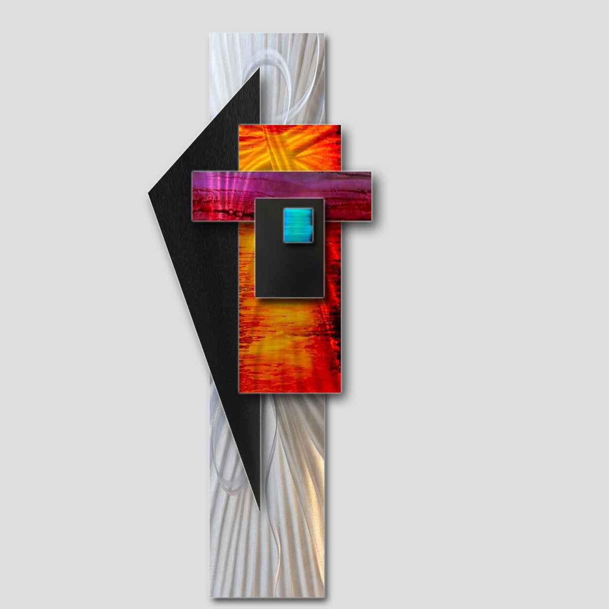 Modern Wall Sculpture Art  Colorful Metal Rhythms  & Modern Wall Sculpture Art | Contemporary Metal Decor for Sale ...