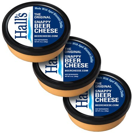 Hall's Original Snappy Beer Cheese 3 pack.