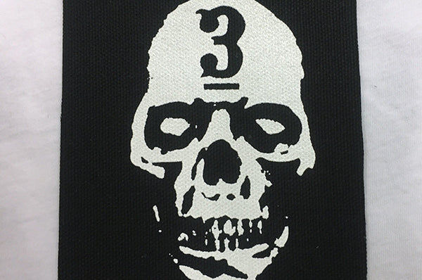 Skull Face 3Bar Cloth