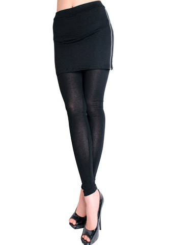 9ab07d9c78c12 Side Zipper Skirt Leggings
