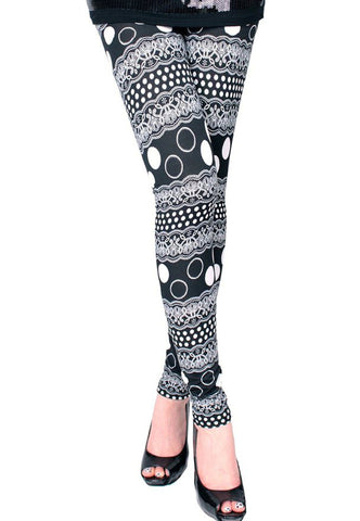 Monkey Skull Lace Leggings