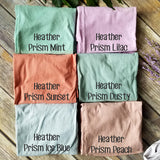 Women's Long Length Heather Pastel Crew Basic T-shirt