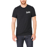 Men's Short Sleeve Crew Basic T-shirt - Daddy Since XXXX Print on Chest