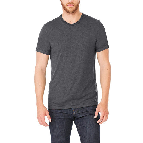 Men's Ultra Soft Tri-Blend Crew Basic T-Shirts