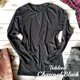 Triblend Charcoal Black