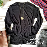Triblend Solid Black