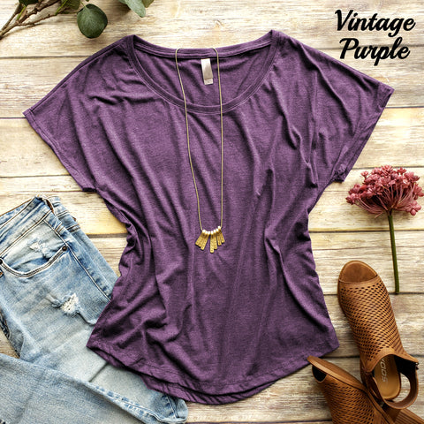 Women's Super Soft Tri-Blend Dolman Tee