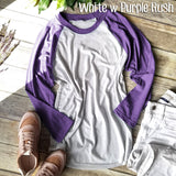 White w Purple Rush