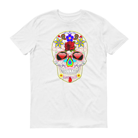 Day of the dead Collection Color Skull Short sleeve t-shirt (Free Shipping)