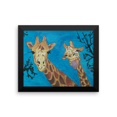 The Majestic Whimsical Giraffe Original Rob C Framed poster (Free Shipping)