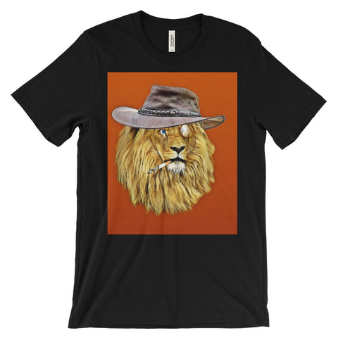 Cool lion design Unisex short sleeve t-shirt (Free shipping)