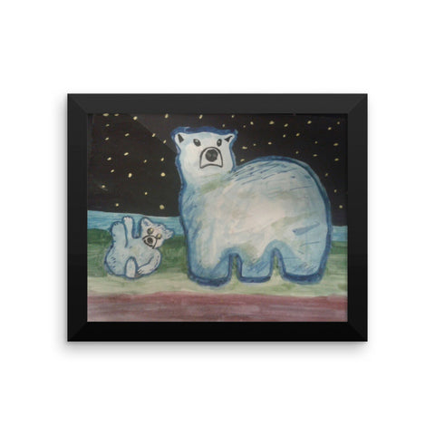 Blue Polar save the bears Framed poster (Free Shipping)