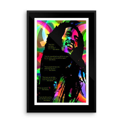 Bob Marley Quotes Framed poster (Free shipping)